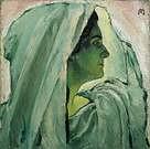 Koloman Moser. Retrato de Anna Bahr-Mildenburg, 1913.