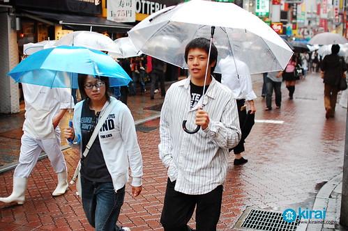 lluvia paraguas