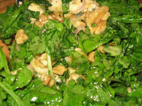 Arugula, Pear, Walnut, Blue Cheese Salad