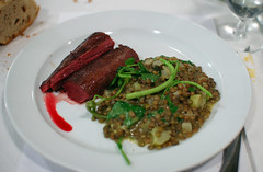 Saddle of Hare with Lentils