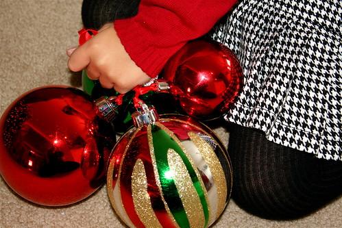 shiny ornaments.