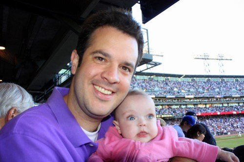 Mike and Maddie at an SF Giants game