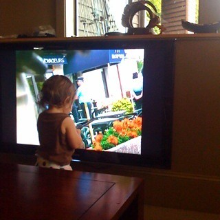 Watching Tour de France on TV