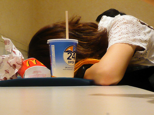 Asleep at McDonald's by DocChewbacca, on Flickr