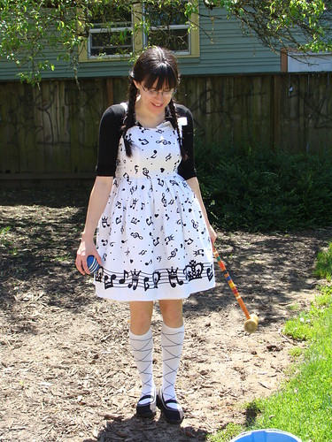 April in her Japanese frock