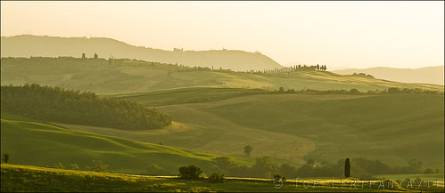 Tuscany vista at sunset
