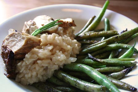Rosemary scented risotto