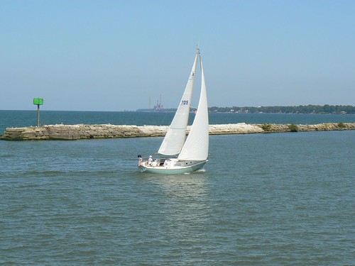 Sailing in Lorain's Inner Harbor