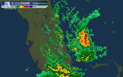 Hanna as seen by KMLB radar site, Melbourne, FL