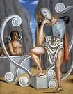 Giorgio de Chirico. Edipo y la esfinge.