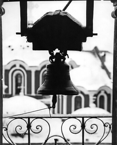 Bell in snow