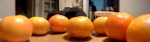 7 oranges photo taken from 3 ones.