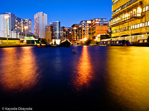 Paddington Basin at Twilight