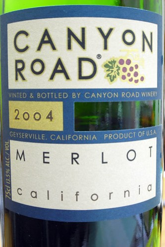 Canyon Road Merlot California 2004 (by Phanix)