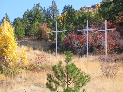 These 3 crosses were built next to our church in memory of my grandfather.  He was a part of this church from the time he became a Christ follower and he actually built this building we are meeting in.