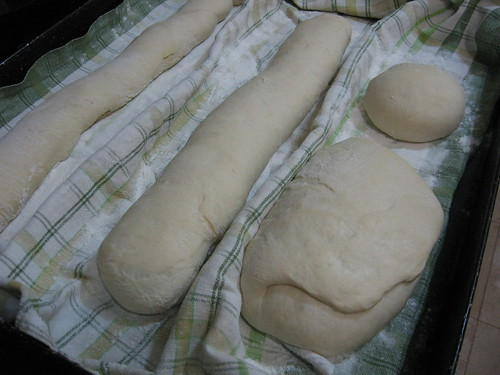 French bread, second proofing