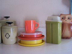 Vintage Tupperware and Fire King