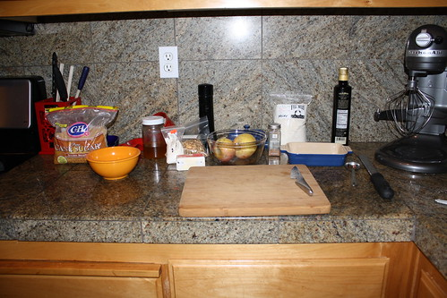 Mis en place for crumble