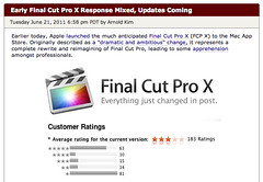 Final Cut Pro X - USA (avg 2.78 stars by 183 users)
