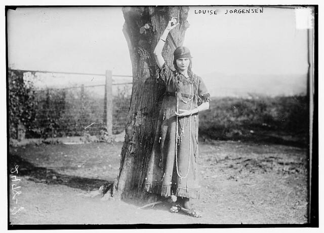 Louise Jorgensen in Indian dress (LOC)