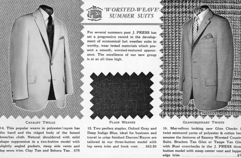 Worsted-Weave Summer Suits