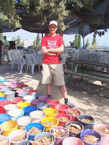 Matt showing off yesterdays pottery haul
