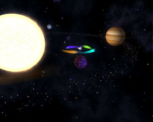 Space Stage - A Nearby Solar System