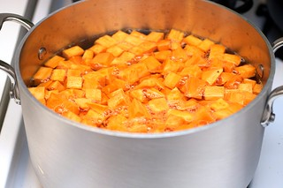 cooking sweet potatoes