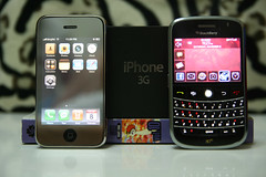 Half-brightness on iPhone 3G vs. BB Bold