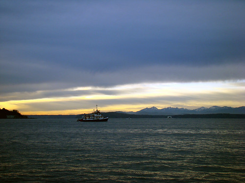 Sunset over Elliot Bay