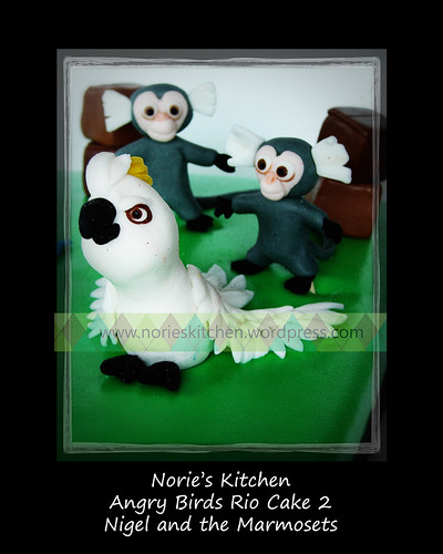 Norie's Kitchen - Angry Birds Rio Cake 2 - Nigel and the Marmosets
