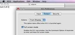 X11 full screen mode is broken