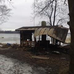 Larun sauna paloi