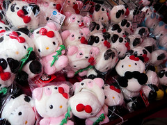 Hello Kitty plush dolls