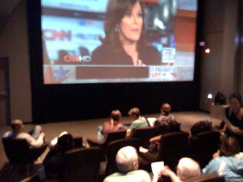Vice Presidential Debate, Living Room Theater, Portland, Oregon