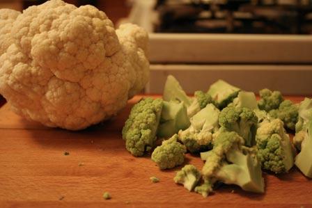 White and Green Cauliflower