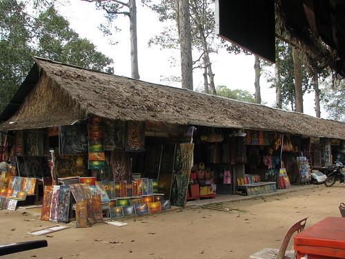 Food stalls at Angkor Thom