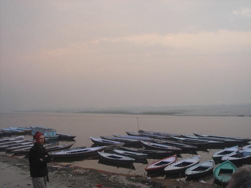 Ganges River1-39日出的恆河天空