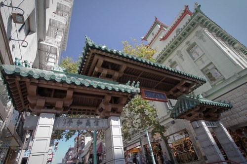 San Francisco - Chinatown Gate: Ornate Orientalist architecture spans the formal entrance to Chinatown.