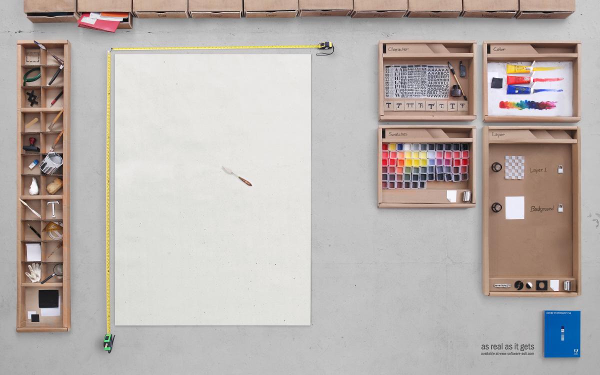 Photoshop CS 4 advertisment