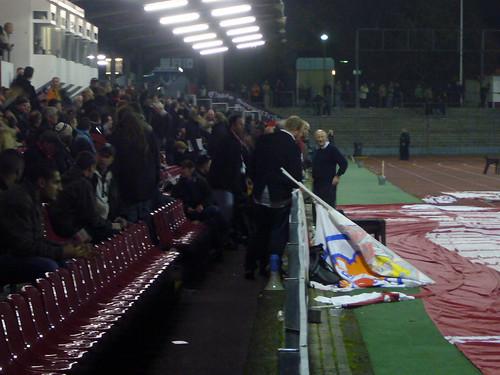 Klaus Ulonska in der Pause bei den Fans