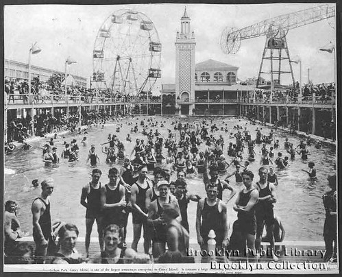 Swimming Pool at Steeplechase Park. Brooklyn Public Library, Brooklyn Collection.