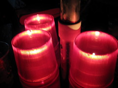We ate by candlelight at Coconuts