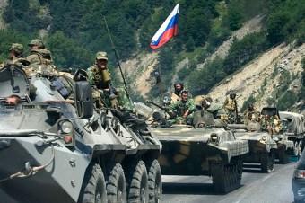 Russian troops heading to Georgia