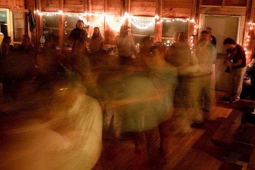 contra dancing with motion blur