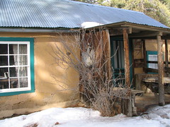 D. H. Lawrence Cabin at Kiowa, the Lawrence Ranch near Taos, New Mexico, February 2007, photo © 2007-2008 by QuoinMonkey. All rights reserved.