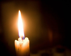 Candle, in the dark