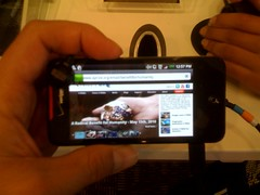 Playing with the HTC Incredible. First impressions? The name is fitting.