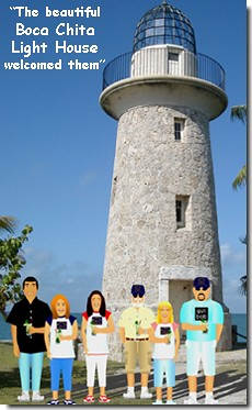 The beautiful Boca Chita Light House welcomed them