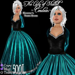 Lady of Shallot - Gown - Cerulean - Petite - Ad